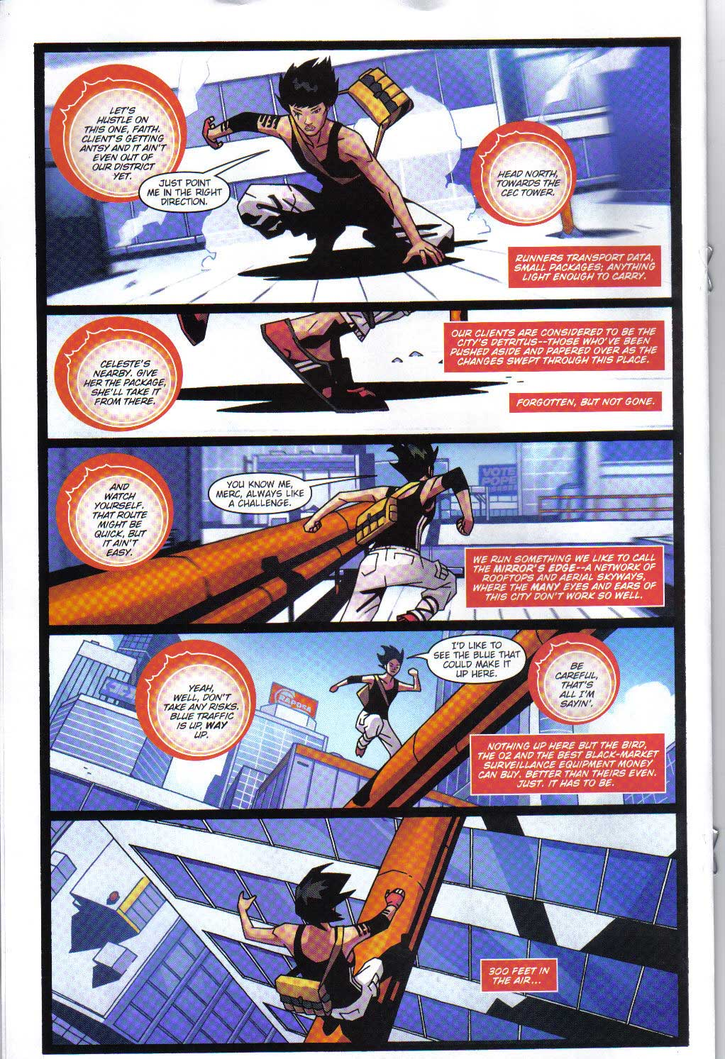 Comic Con 08 Mirror S Edge Comic 7 Page Preview Gematsu