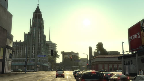 Hollywood and Highland intersection in Midnight Club: Los Angeles