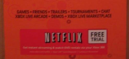 Netflix 48 Hour Trial Cards Bundling With New Xbox 360 Titles - Gematsu
