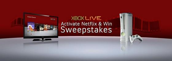 Xbox live netflix contest could win you a home theater for Win a home contest