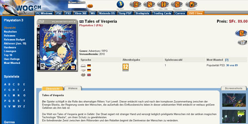 More retailers start listing tales of vesperia ps3 gematsu for List of online retailers