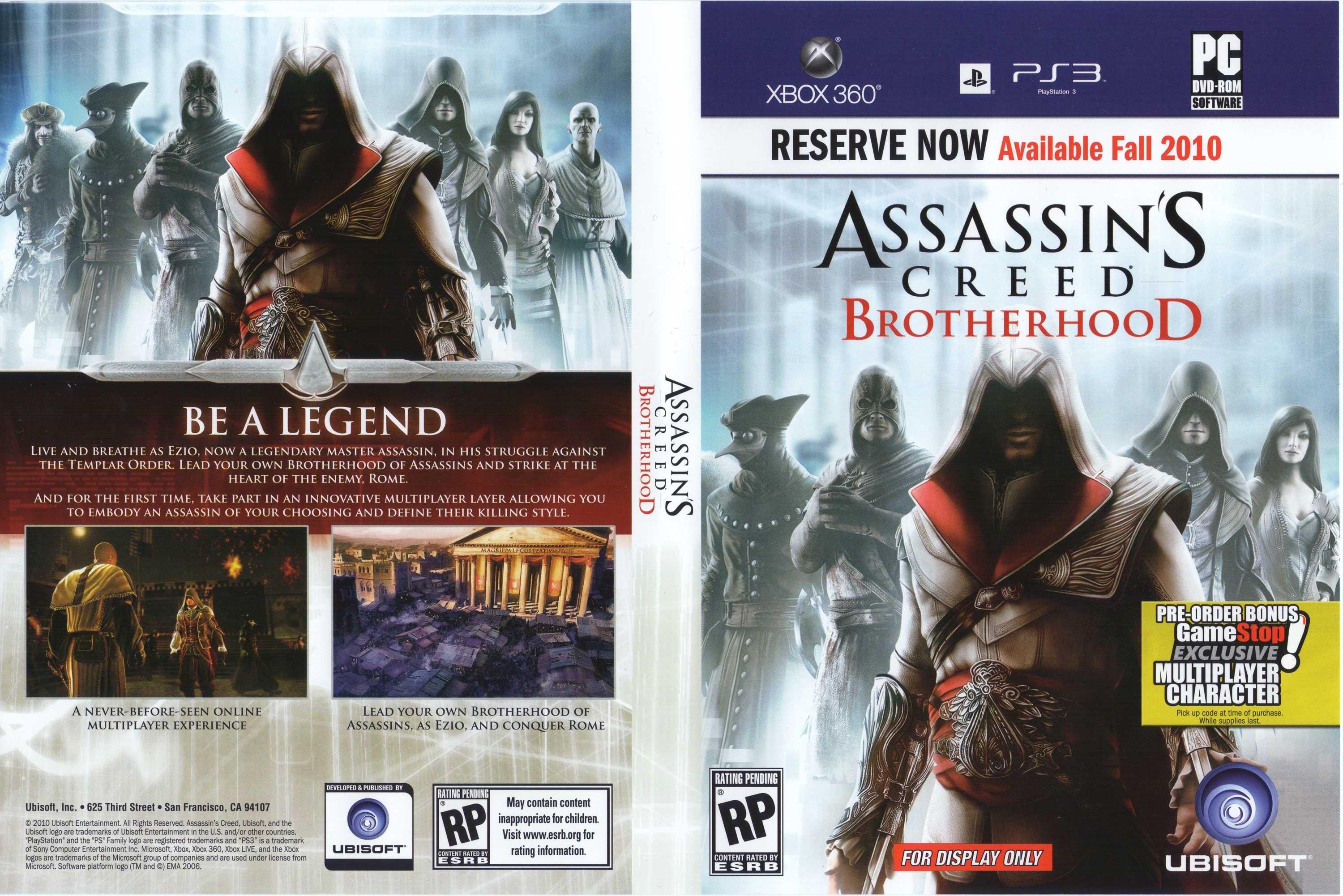 Assassin S Creed Brotherhood Is Ezio S Next Feat Update 2 Gematsu