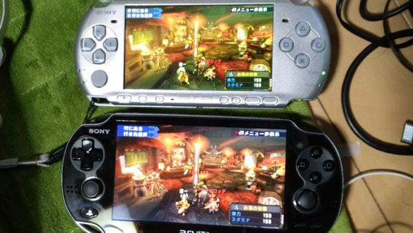 PSP游戏在PSV和PSP的对比
