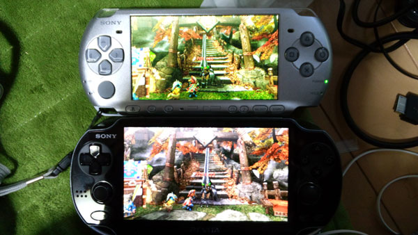 PSP vs  PlayStation Vita - Final Fantasy Type-0 and Monster