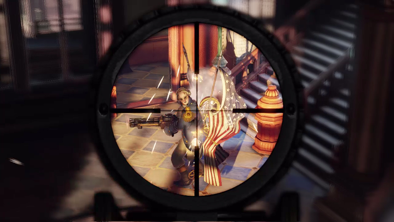 Bioshock infinite 39 s motorized patriot in action gematsu - Bioshock wikia ...