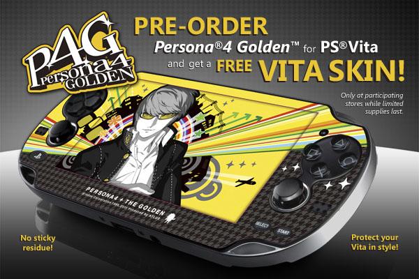 pre order persona 4 golden get a free ps vita skin gematsu