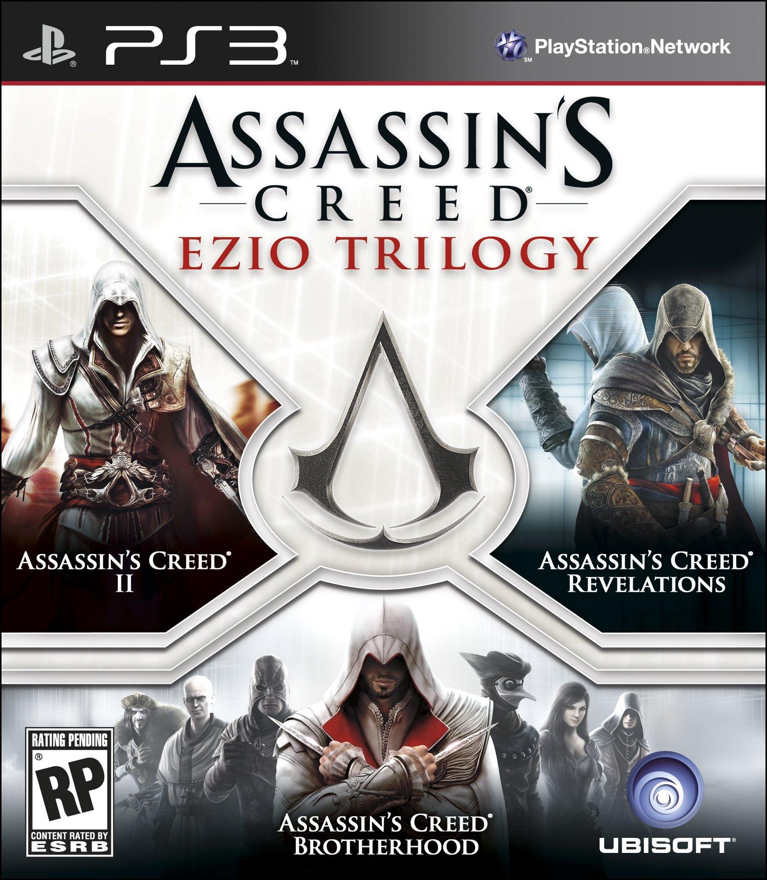 اكبر مجموعة ضخمه العاب PS3 كامله وروابط تورنت  Ezio-Trilogy-PS3-Box-Art