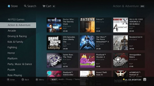 PlayStation Store updated, quick download returns