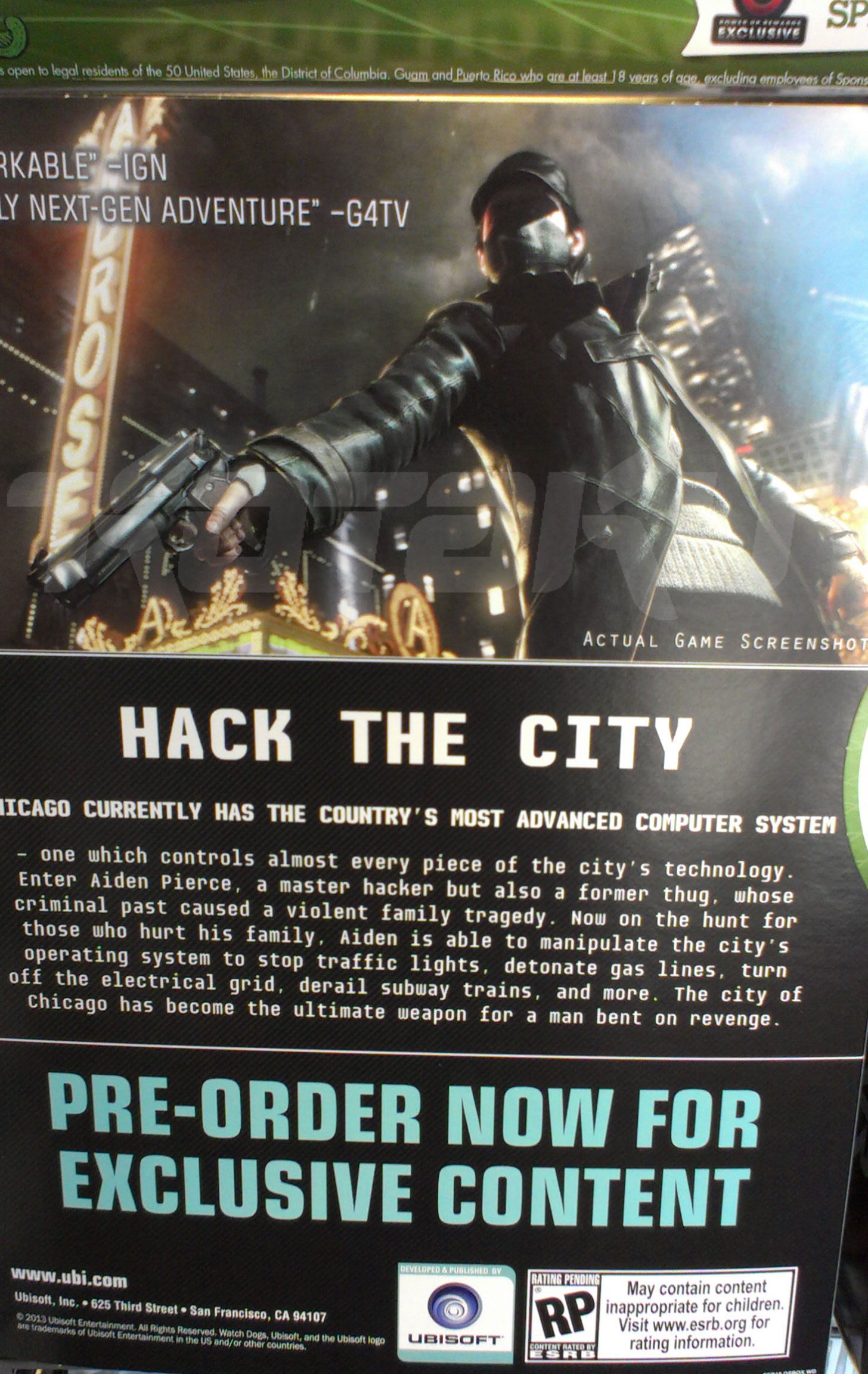 """Watch Dogs out this holiday for """"all home consoles,"""" says ..."""