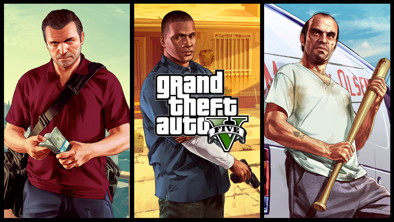 Grand Theft Auto V: Michael. Franklin. Trevor. Trailer
