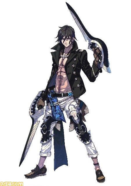 Good Looking Guy Who Wields A Twin sword He Has Lot Of Self