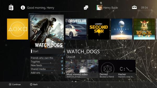 PS4 Theme Mockup