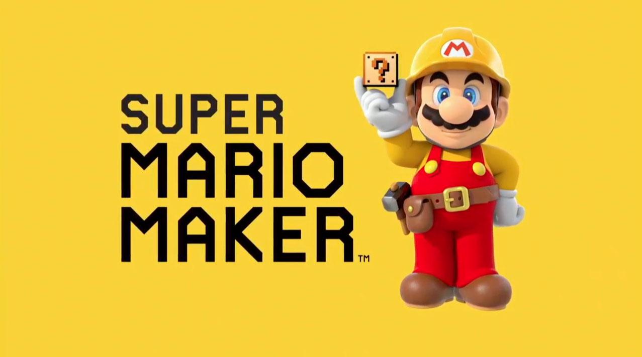 Mario Maker Renamed Super Mario Maker