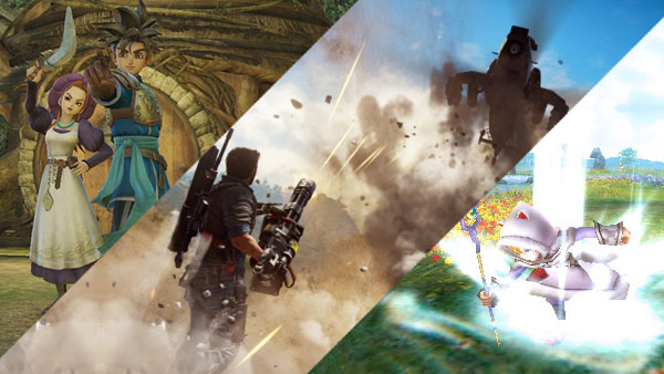 Dragon Quest Heroes, Just Cause 3, Final Fantasy Explorers