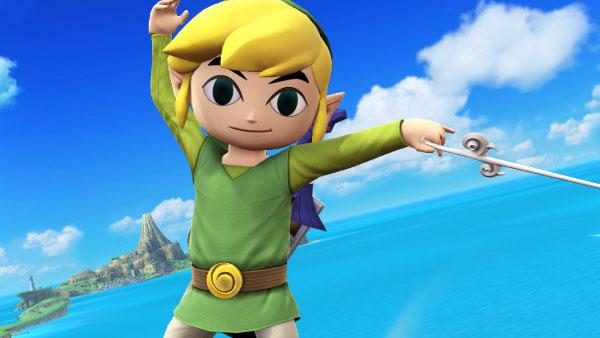 Toon Link in Super Smash Bros. for Wii U