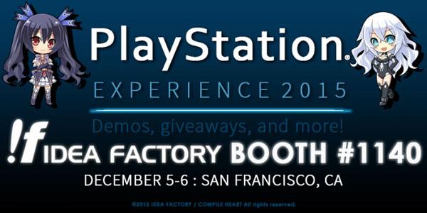 Idea Factory International at PlayStation Experience 2015