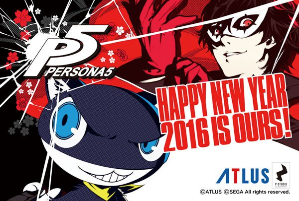 Persona 5 New Years Card 2016