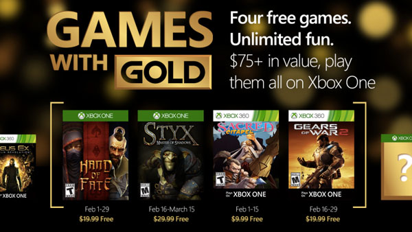 Xbox Games With Gold February 2016
