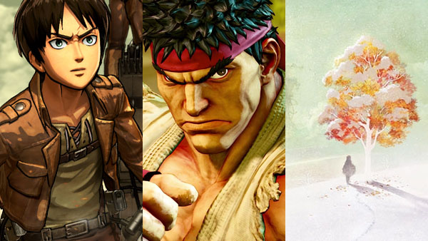 Attack on Titan, Street Fighter V, Ikenie to Yuki no Setsuna