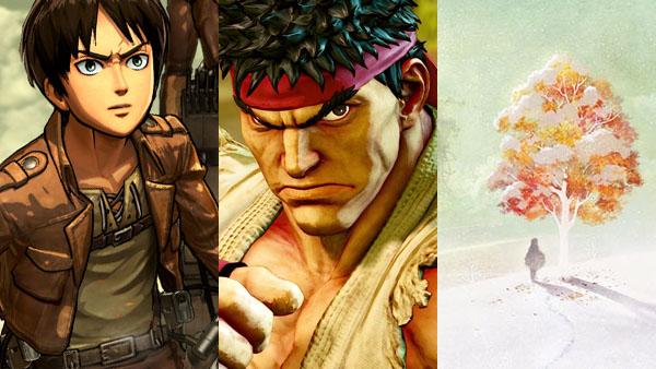 Attack on Titan, Street Fighter V, Ikenie to Yuki no Setsuna