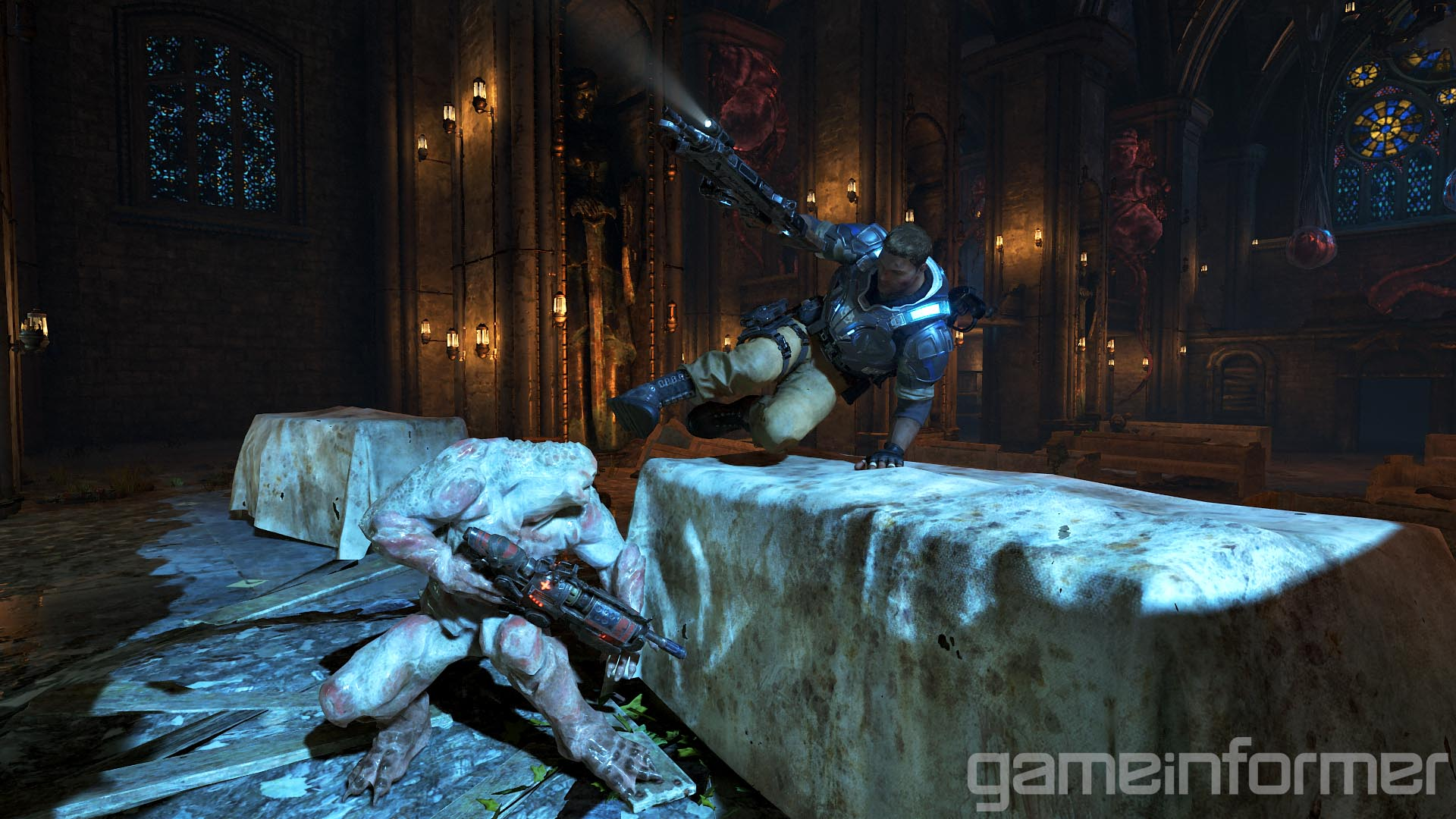 locust drone with Gears War 4 Game Informer Screenshots on Mejores Juegos Xbox 360 104684 furthermore Gears Of War Ultimate Edition Pre Order Characters Exclusives together with Robots moreover Skorge  Gears of War additionally Minecraft Xbla Skin Pack 1 Details.