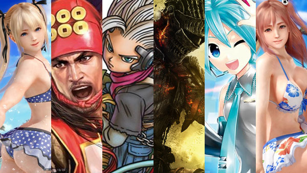 Dead or Alive Xtreme 3: Fortune, Nobunaga's Ambition: Sphere of Influence Sengoku Risshiden, Dragon Quest Monsters: Joker 3, Dark Souls III, Hatsune Miku: Project Diva X, Dead or Alive Xtreme 3: Venus