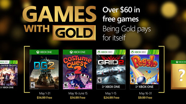 May 2016 Games with Gold