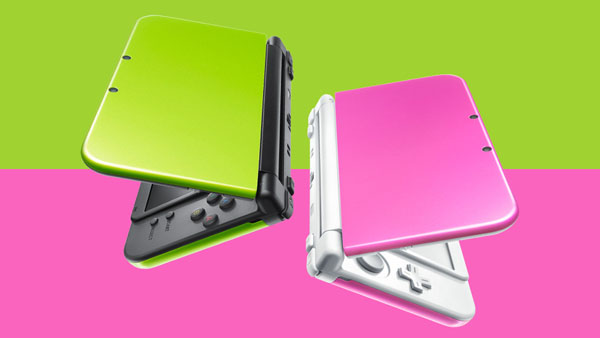 """3DS XL """"Lime x Black"""" and """"Pink x White"""""""