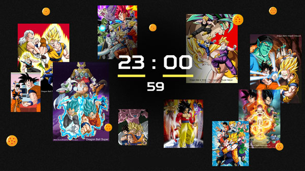Drgaon Ball 'Fly Through Time' Countdown Website