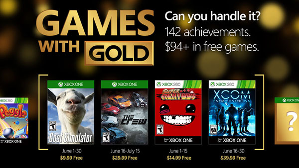 Xbox Live Games with Gold - June 2016