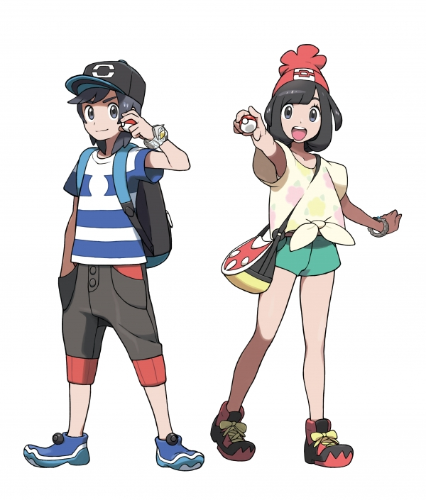 pokemon sun and moon protagonist hero or heroine