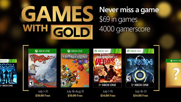 Xbox Live Games with Gold for July 2016