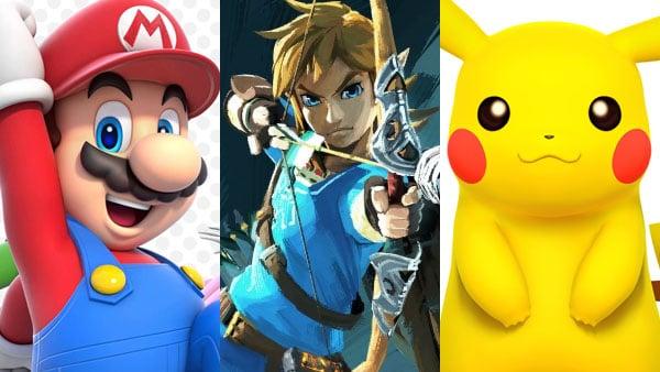 Mario, Zelda, and Pokemon