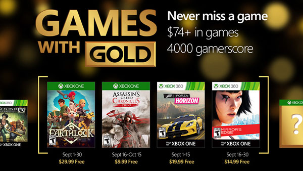 Xbox Live Games with Gold - September 2016