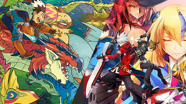 Monster Hunter Stories and BlazBlue: Central Fiction