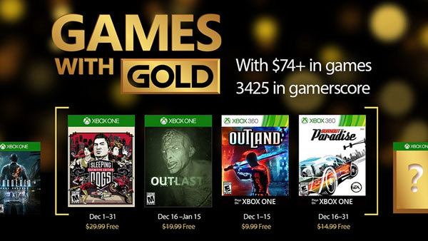 Xbox Live Games with Gold - December 2016