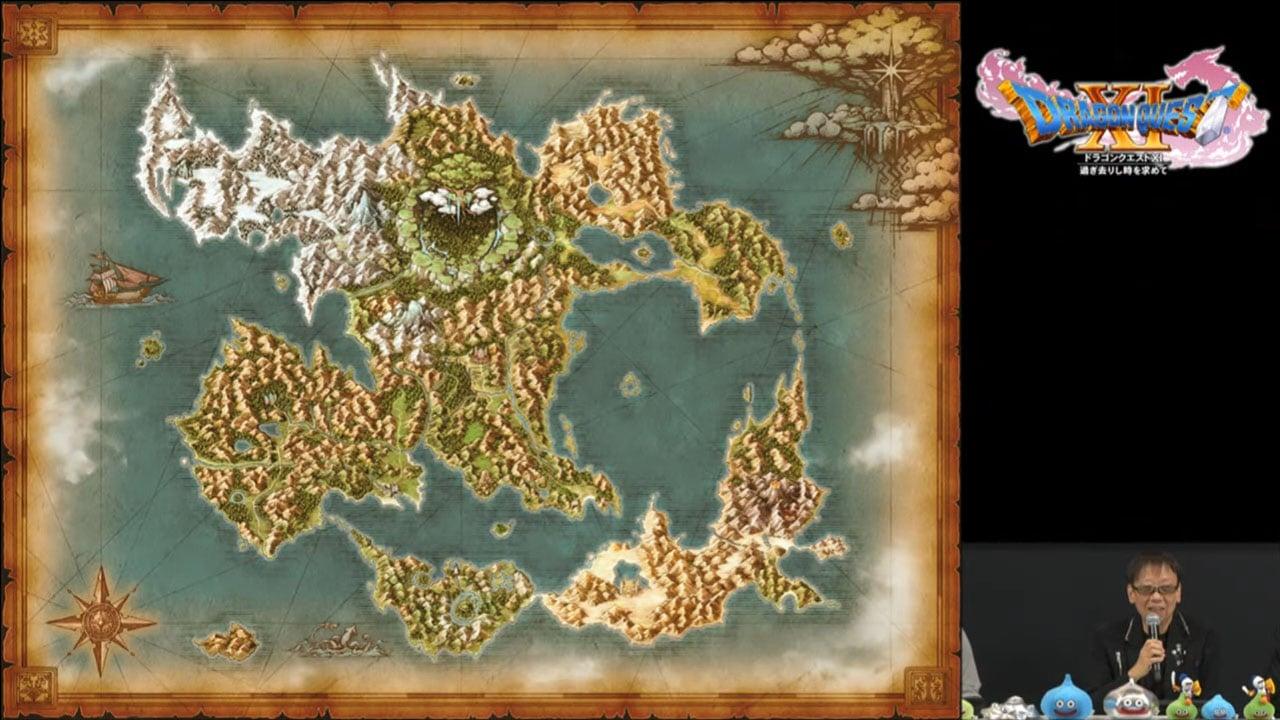 dragon quest xi world map