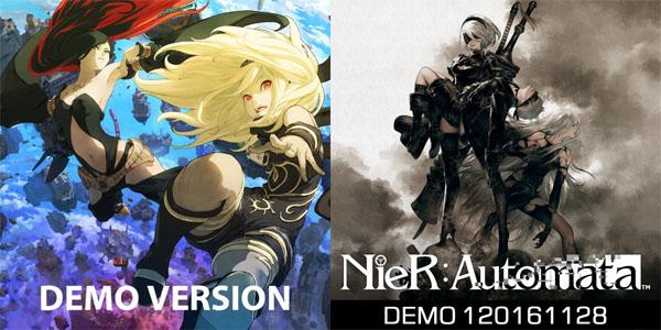 Gravity Rush 2 and NieR: Automata demos