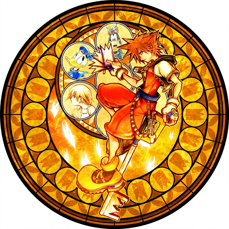 kingdom hearts launches 15th anniversary 39 memorial stained glass clock 39 campaign in shinjuku. Black Bedroom Furniture Sets. Home Design Ideas