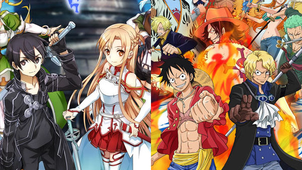 Sword Art Online: Memory Defrag and One Piece: Thousand Storm