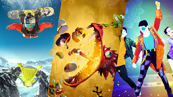 Just Dance 2017, Rayman Legends: Definitive Edition, and Steep