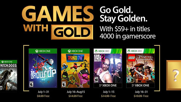 Xbox Live Gold free games for July 2017
