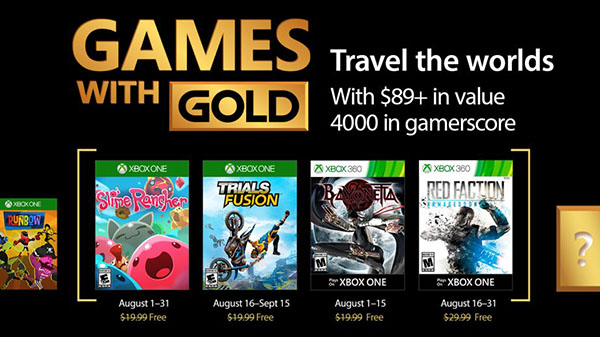 Xbox Live Gold free games for August 2017