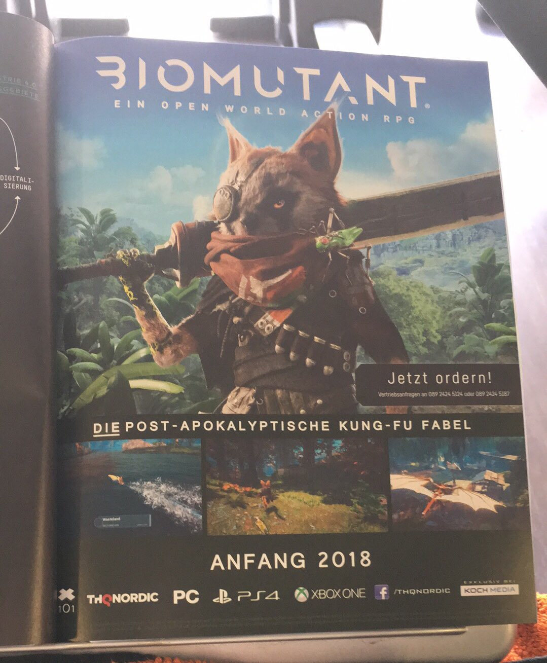 عنوان اکشن نقشآفرینی پسا-آخرالزمانی THQ Nordic به نام Biomutant لو رفت