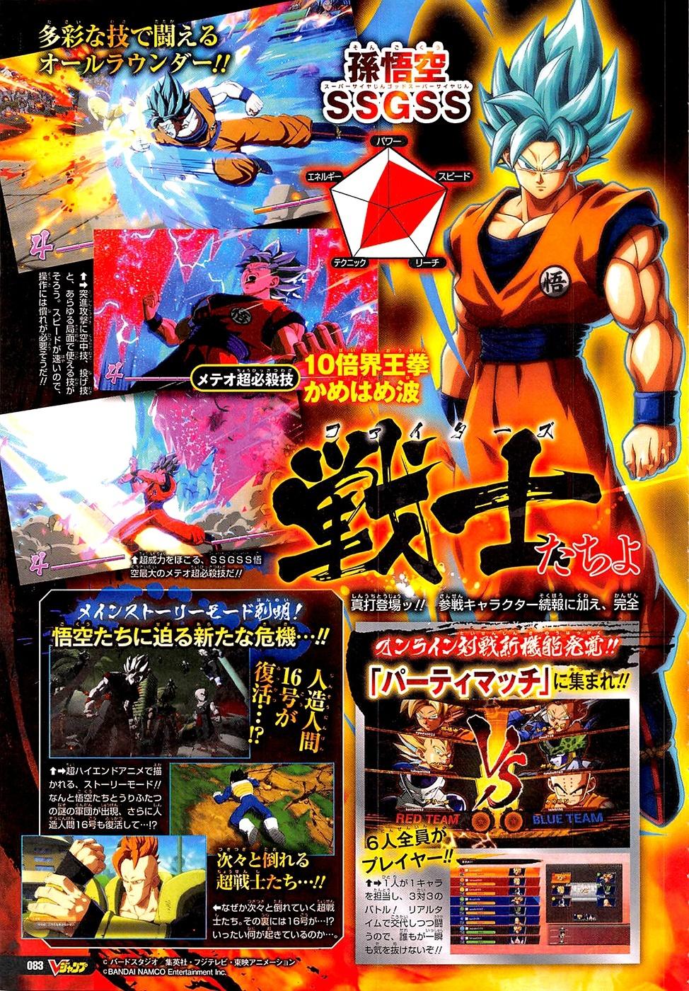 Dragon Ball Fighterz Adds Super Saiyan Blue Goku And