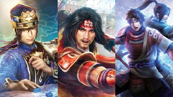 Dynasty Warriors 8: Empires, Samurai Warriors: Spirit of Sanada, and Warriors Orochi 3 Ultimate