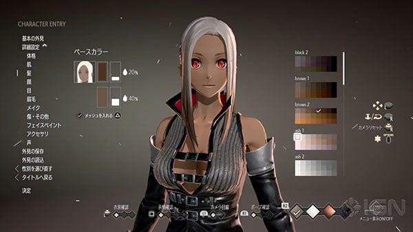code vein character customization gameplay gematsu