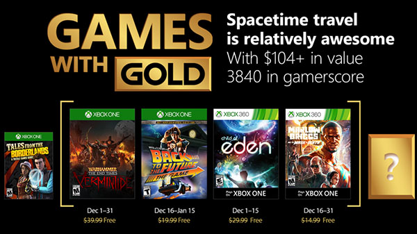 Xbox Live Gold free games for December 2017