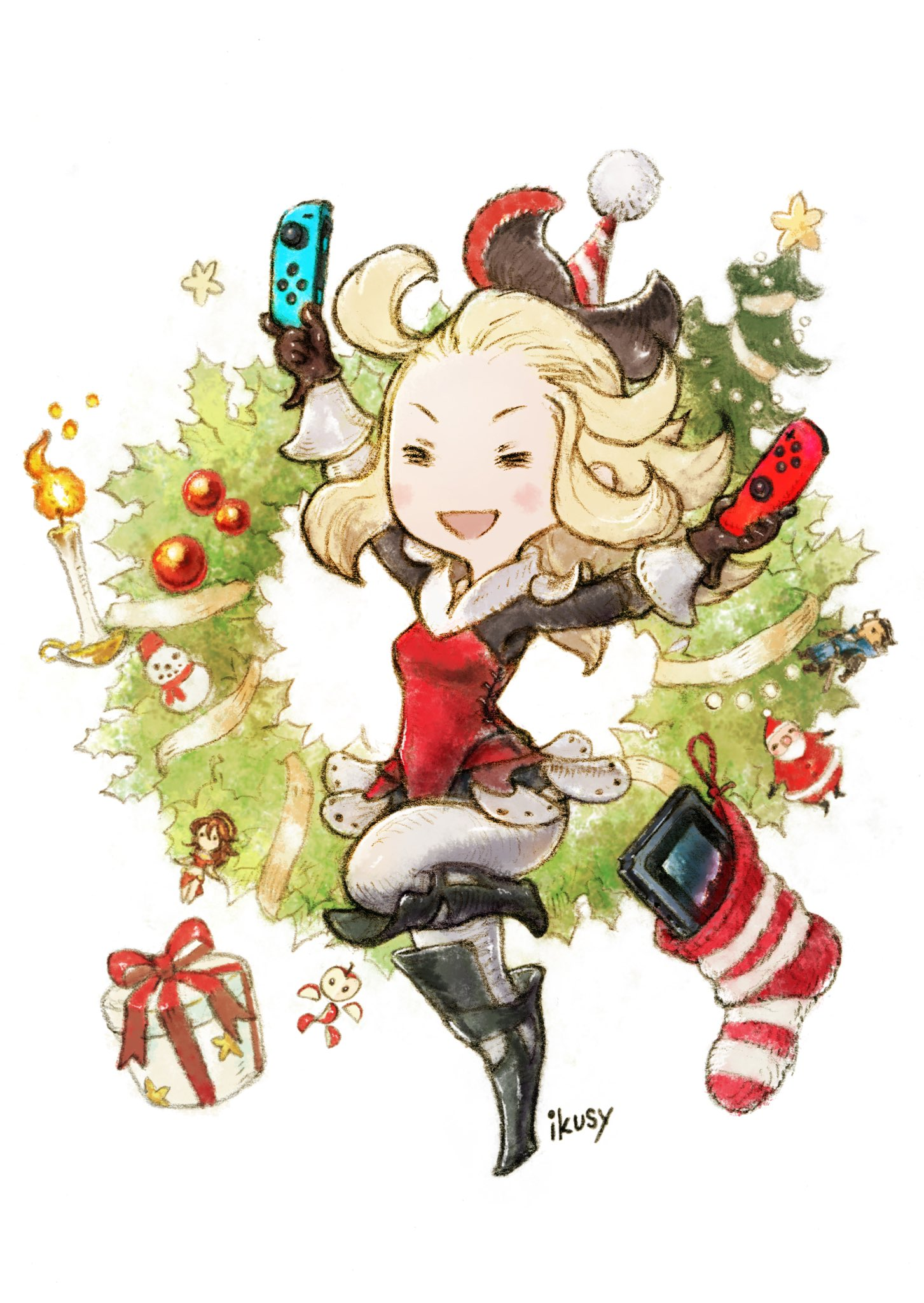 Bravely Default Twitter account wishes followers a Switch-themed ...