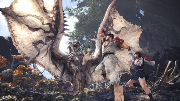 Monster Hunter: World Street Fighter V collaboration announced - Gematsu